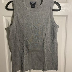 Men's Grey Abercrombie and Fitch tank top